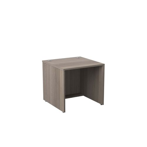 Jemini Reception Modular Desk Unit 800mm Grey Oak KF71542