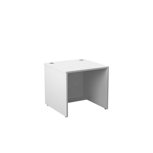 Jemini Reception Modular Desk Unit 800mm White RCM800SBUWH