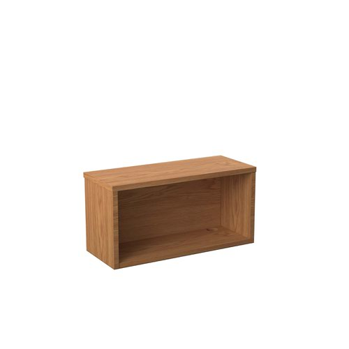 Jemini Reception Modular Straight Hutch Unit 800mm NovaOak KF79881