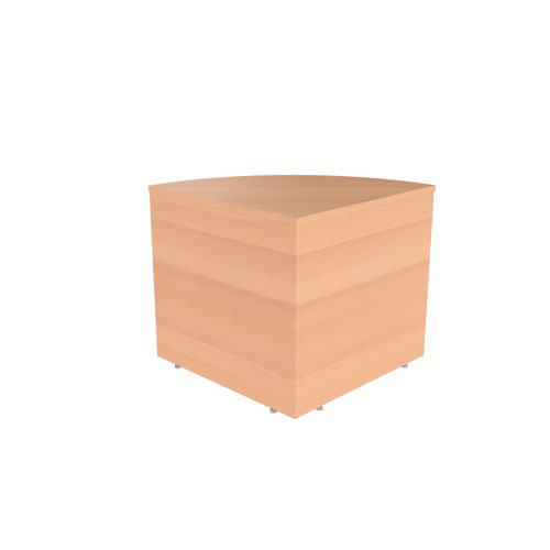 Reception Modular Corner Base Unit Beech Version 2