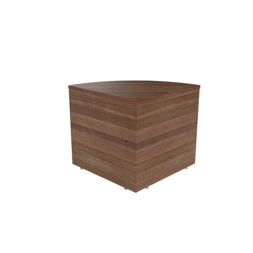 Jemini Reception Modular Corner Desk Unit Dark Walnut KF71536