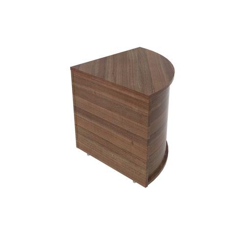 Jemini Reception Modular Corner Desk Unit Dark Walnut RCMCBDW Reception Desks KF71536