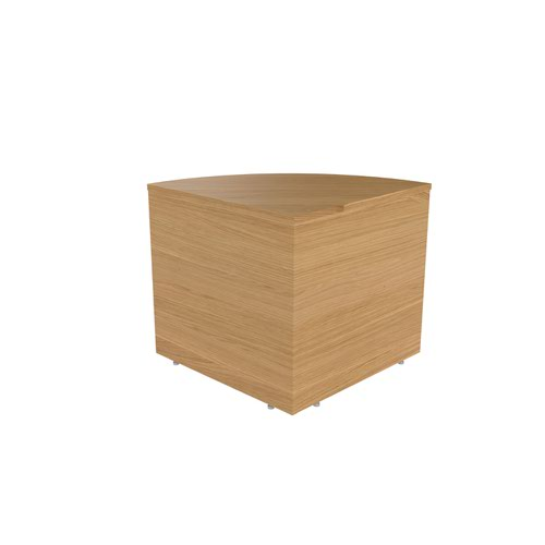 Jemini Reception Modular Corner Base Unit Nova Oak KF79882
