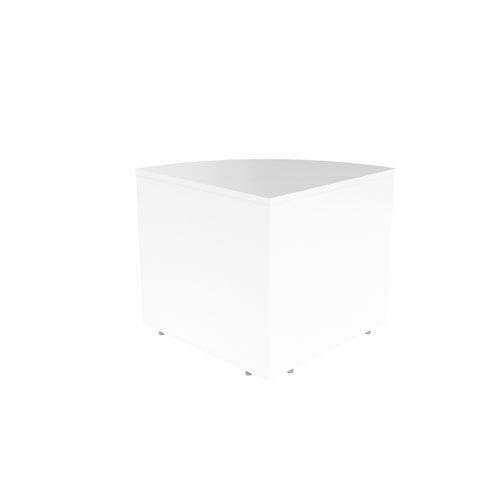 Reception Modular Corner Base Unit White