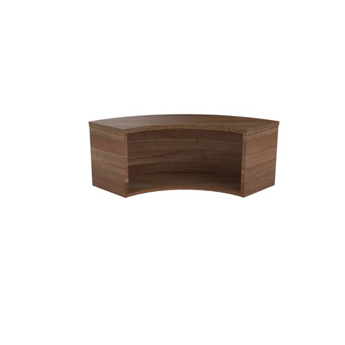 Jemini Reception Modular Corner Riser Unit Dark Walnut KF71537