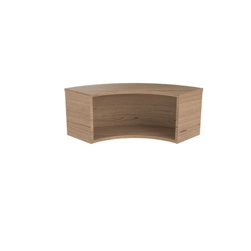 Jemini Reception Modular Corner Riser Unit Grey Oak KF71545