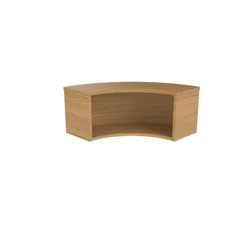 Jemini Reception Modular Corner Hutch Unit Nova Oak RCMCHNO