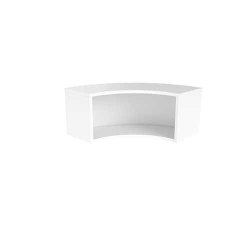 Jemini Reception Modular Corner Riser Unit White KF71553