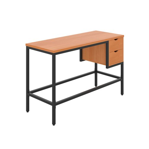 Haynes Desk with 2 Drawers - Black / Beech