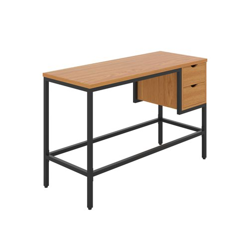 Haynes Desk with 2 Drawers - Black / Oak