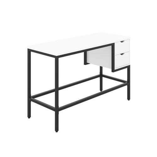 Haynes Desk with 2 Drawers - Black / White