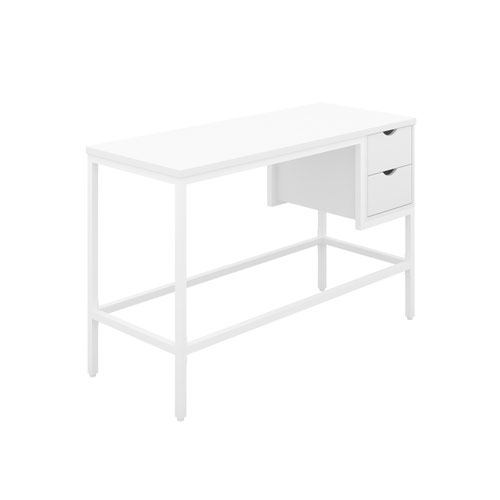 Haynes Desk with 2 Drawers - White / White