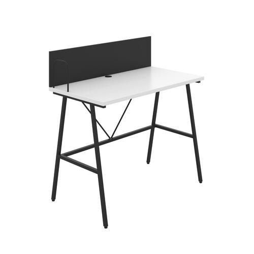 Bilbury A-Frame Desk with Backboard - Black / White