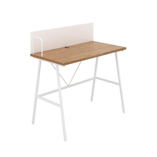 Bilbury A-Frame Desk with Backboard - White / Oak