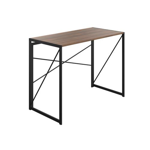 SOHO Home Working Desk with Square Leg and Cross Supports - Dark Walnut / Black