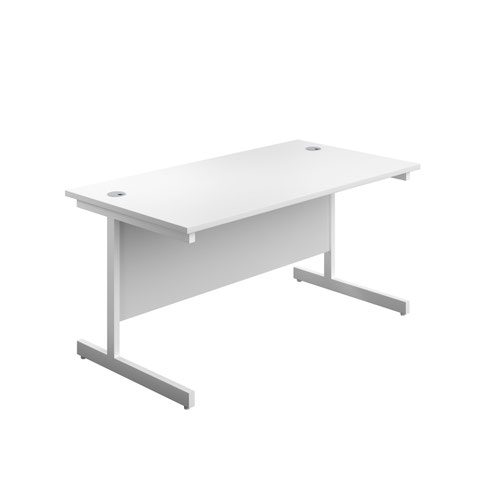 1400X800 Single Upright Rectangular Desk White-White
