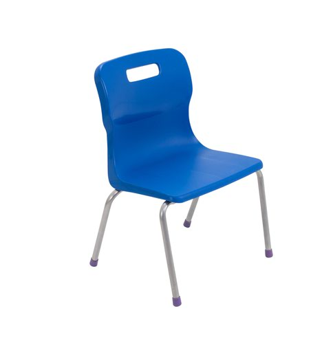 Titan 4 Leg Chair Size 2 - 310mm Seat Height - Blue