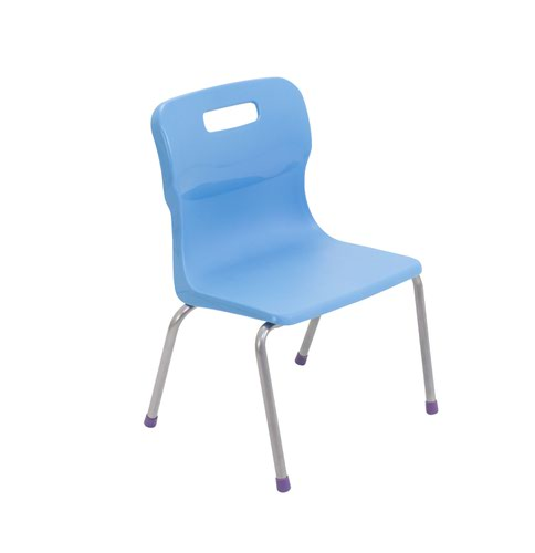 Titan 4 Leg Chair Size 2 - 310mm Seat Height - Sky Blue