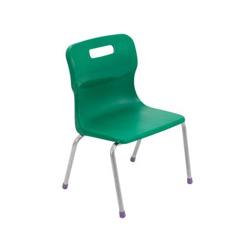 Titan 4 Leg Chair Size 2 - 310mm Seat Height - Green