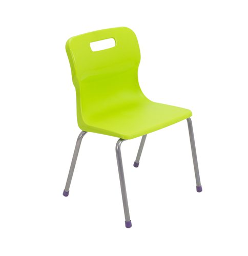 Titan 4 Leg Chair Size 2 - 310mm Seat Height - Lime