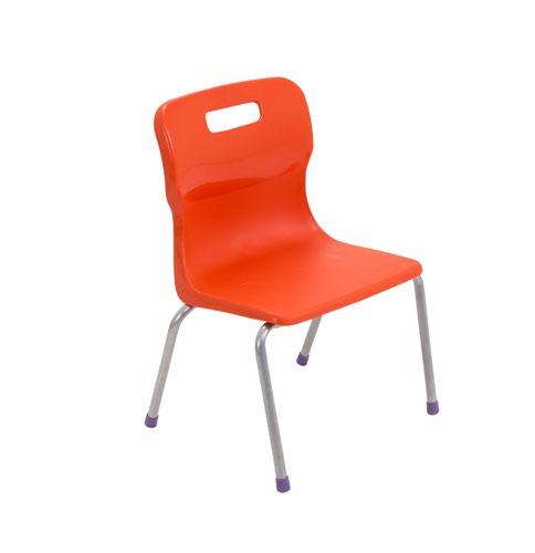 Titan 4 Leg Chair Size 2 - 310mm Seat Height - Orange