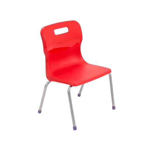 Titan 4 Leg Chair Size 2 - 310mm Seat Height - Red