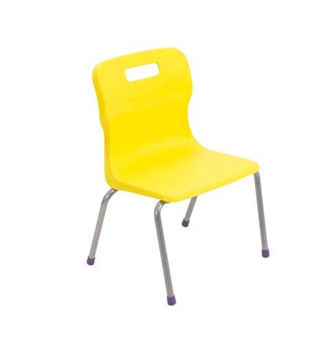 Titan 4 Leg Chair Size 2 - 310mm Seat Height - Yellow