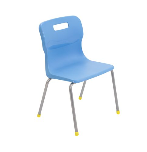 Titan 4 Leg Chair Size 3 - 350mm Seat Height - Sky Blue