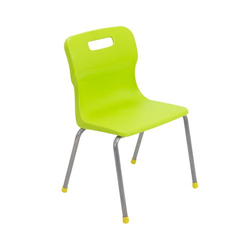 Titan 4 Leg Chair Size 3 - 350mm Seat Height - Lime