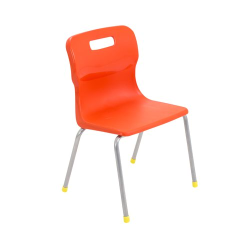 Titan 4 Leg Chair Size 3 - 350mm Seat Height - Orange