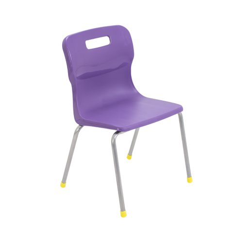 Titan 4 Leg Chair Size 3 - 350mm Seat Height - Purple
