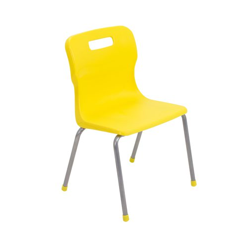 Titan 4 Leg Chair 350mm Yellow KF72183
