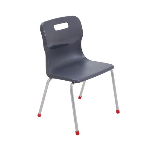 Titan 4 Leg Chair 380mm Charcoal KF72187