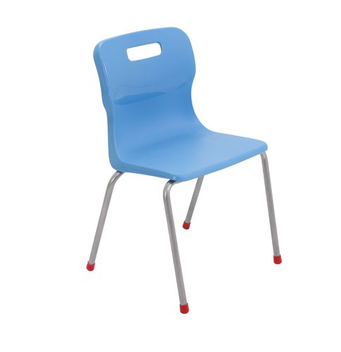 Titan 4 Leg Chair Size 4 - 380mm Seat Height - Sky Blue