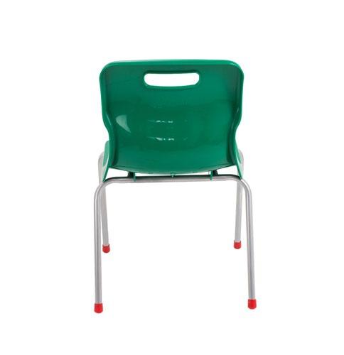 Titan 4 Leg Classroom Chair 438x416x700mm Green KF72186 Classroom Seats KF72186