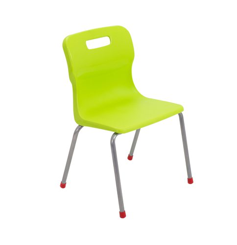 Titan 4 Leg Chair Size 4 - 380mm Seat Height - Lime