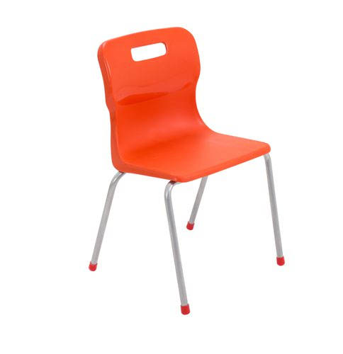 Titan 4 Leg Chair Size 4 - 380mm Seat Height - Orange