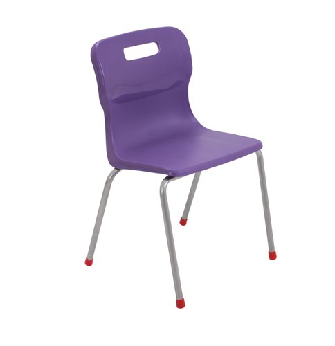 Titan 4 Leg Chair Size 4 - 380mm Seat Height - Purple