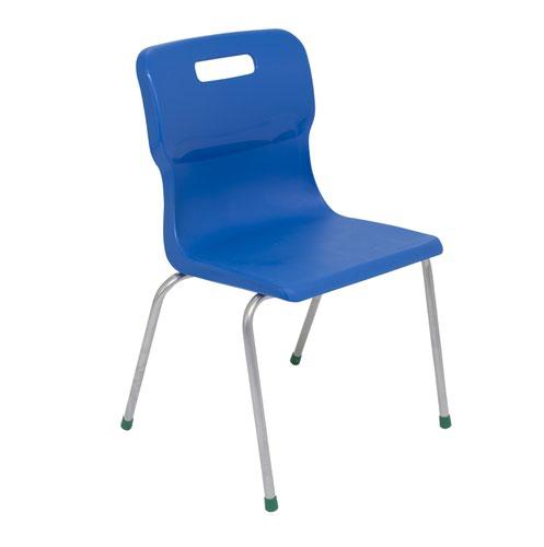 Titan 4 Leg Chair 430mm Blue KF72190