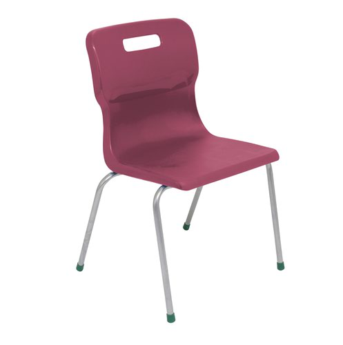 Titan 4 Leg Chair Size 5 - 430mm Seat Height - Burgundy