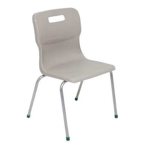 Titan 4 Leg Chair Size 5 - 430mm Seat Height - Grey