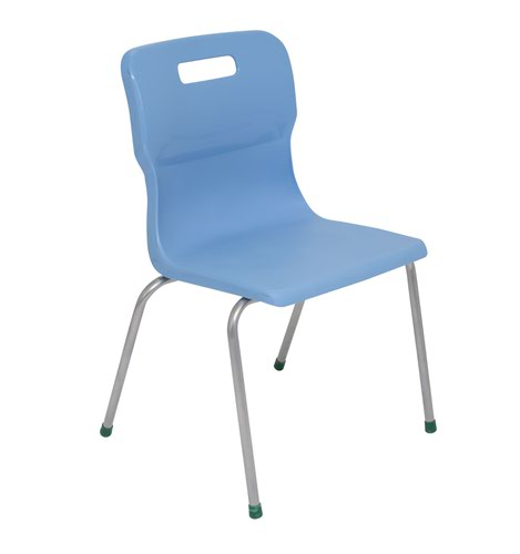 Titan 4 Leg Chair Size 5 - 430mm Seat Height - Sky Blue