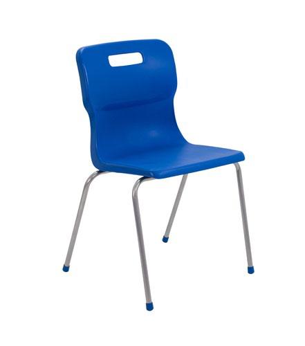 Titan 4 Leg Chair 460mm Blue KF72195