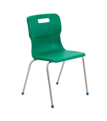 Titan 4 Leg Chair 460mm Green KF72196
