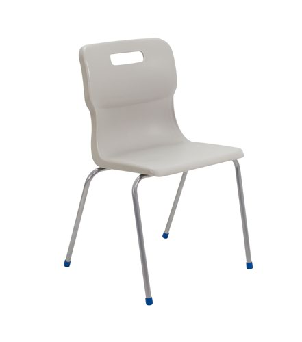 Titan 4 Leg Chair Size 6 - 460mm Seat Height - Grey