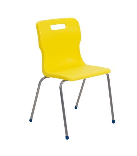 Titan 4 Leg Chair 460mm Yellow KF72198