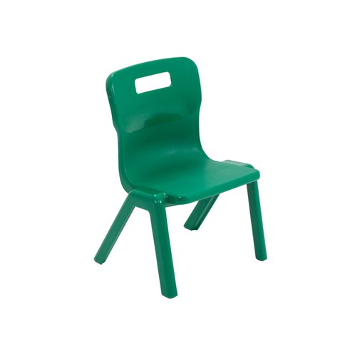 Titan One Piece Chair 260mm Green (Pack of 30) KF78596
