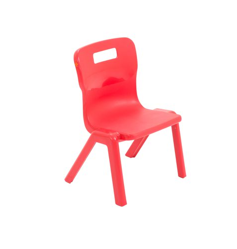 Titan One Piece Chair 260mm Red (Pack of 30) KF78594