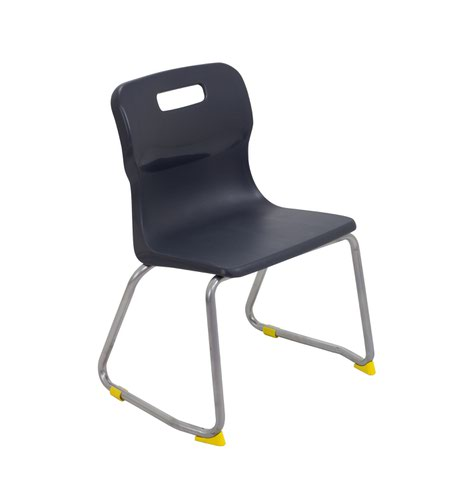 Titan Skid Base Chair Size 3 - 350mm Seat Height - Charcoal