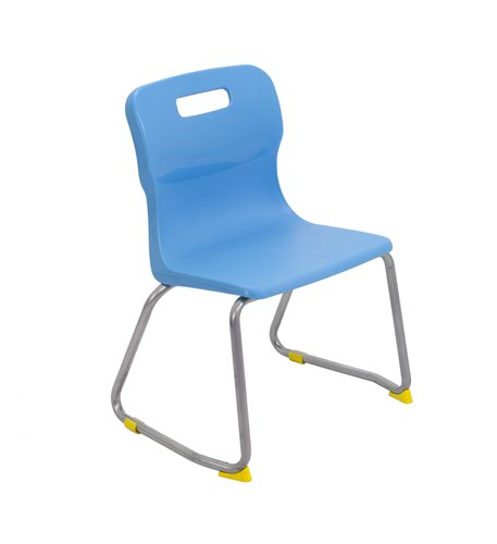 Titan Skid Base Chair Size 3 - 350mm Seat Height - Sky Blue